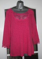 Marks and Spencer 'Indigo' Laced Front/Cuff Jumper in Pink - Size 10 - NEW/TAG