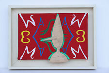 MOYA Patrick Acrylique sur toile signée intitulée Moya et Pinocchio