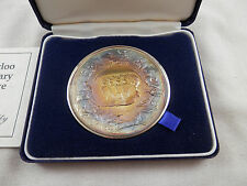 Battle of Waterloo 175th Anniversary Commemorative Silver Medal COA