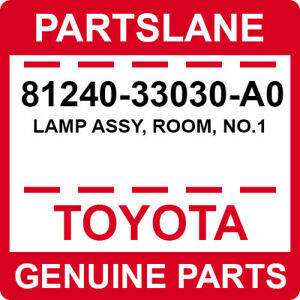 81240-33030-A0 Toyota OEM Genuine LAMP ASSY, ROOM, NO.1