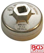 BGS Tools End Cap Oil Filter Wrench Aluminium Diecast 64mm x P14 1042