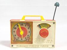 Vintage 1971 Fisher Price Wind Up Hickory Dickory Dock Clock Radio Works **READ*
