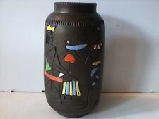 Rare Vintage Fratelli Fanciullacci Egyptian Mid Century Italian Ceramic Vase
