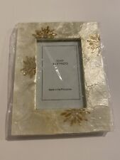Capiz Shell Picture Frame Fits 4x6 New Made In Philippines