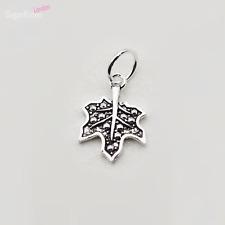 Pretty Sterling Silver Marcasite Bead Maple Leaf Necklace Bracelet Pendant Charm