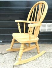 Solid Pine small Farmhouse Style Childs/teddy Bear Rocking Chair