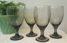 Smoke Glass Goblets Classic Set of 4 Footed Drinking Glasses 16oz Glass Goblets