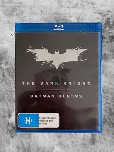 THE DARK KNIGHT / BATMAN BEGINS (2012) BLU RAY CULT ACTION DC COMICS R4