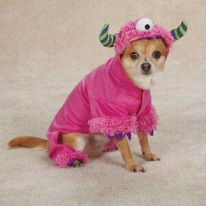 Dog Puppy Soft Halloween Costume - Casual Canine - Pink Monster Paws - XS XSmall