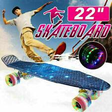 Skateboard LED Kinderboard Deck Miniboard ABEC7 Pen-nyboard für Anfänger Unisex_
