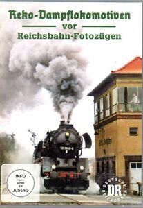 DVD Reko-Dampflokomotiven vor Reichsbahn-Fotozügen / ua Nossen, Lausitz / 58 Min