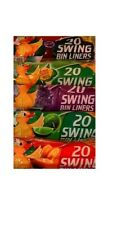 100 SCENTED SWING BIN LINERS WITH TIE HANDLES. EXCELLENT QUALITY.
