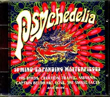 CD - PSYCHEDELIA (18 HITS COMPILATION 60's HITS) MINT,  STOCK STORE COPY, LISTEN