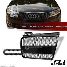 2005-2008 AUDI A4 B7 MATTE BLACK RS-MESH FRONT BUMPER GRILL GRILLE ABS+LOGO BASE