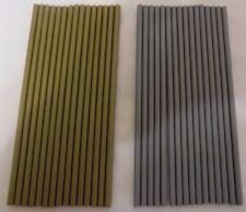 "Silver or Gold Lollipop Cake Pop Plastic Sticks 6"" x 4mm  christmas crafts"