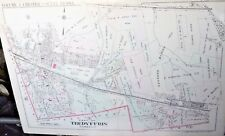 TREDYFFRIN TOWNSHIP PAOLI, DAYLESFORD GENUINE ANTIQUE MAP 1933 FRANKLIN MAINLINE