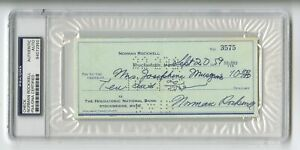 Norman Rockwell - American Art Icon - Autographed PSA/DNA Slabbed 1959 Check