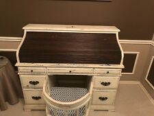 Beautiful Nautical themed Roll top desk with chair