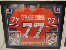 Denver Broncos Orange Crush Multi Autographed & Custom Framed Jersey - JSA Cert