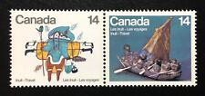 Canada #769-770a LF MNH, Inuit Travel Pair of Stamps 1978