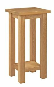 Small Oak Side Plant Table | Solid Wood Telephone/Lamp/Bedside/End Stand
