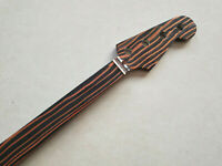 FRETLESS zebra wood 4 string 20 Fret Electric Bass Guitar neck Parts