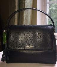 Kate Spade Miri Chester St Satchel Crossbody Bag Pebble Leather Black NWT