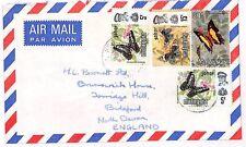 UU121 Malaysia BUTTERFLIES 1970s Cover {samwells-covers}