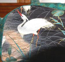 Artisan Handmade Shoulder Bag - Crane Motif