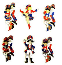 CARNAVAL Colonia pin / PINES - bailarina & guardias / 6 PINS [4008]