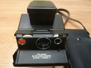 Polaroid SX-70 Alpha 1 Model 2 Tested Working Reskinned in Meters w/Case & Strap