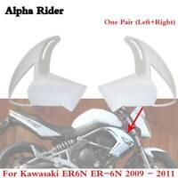 Unpainted Left + Right side fairing Radiator For KAWASAKI ER6N 650 2009 2010 11
