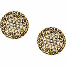 NEW FOSSIL GOLD TONE,STAINLESS STEEL,CRYSTAL,PAVE,GLITZ,STUD EARRINGS JF02136710