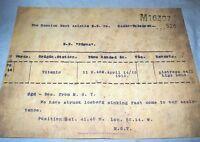 TITANIC Distress Call Memorabilia Iconic Display Case Item Ship RMS Russian Old