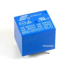 1 X  RELE RELAY 10A 5V DC SRD-5VDC-SL-C PCB PARA ARDUINO PROTOTIPO 2P 1C