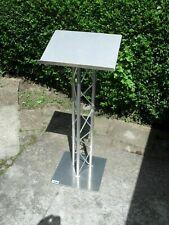 More details for fully assembled metal presentation lectern stand for church school or university