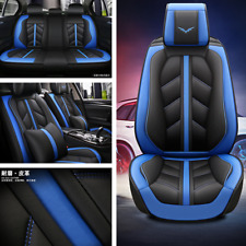 Car Seat Cover Protector Cushion Front Rear Full Set Leather Interior Accessorie