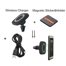 QI Wireless Car Charger Charging Magnetic Pad Air Vent Holder for Samsung iPhone