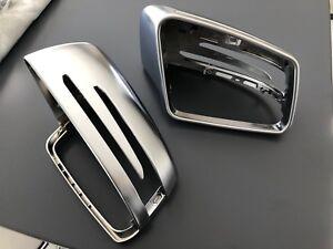 Mercedes Benz Classe A B C E AMG Specchietti Alluminio Satinati Calotte Mirror