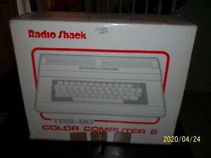 VINTAGE RADIO SHACK 64K TANDY TRS-80 COLOR COMPUTER 2 KEYBOARD ORIGINAL BOX GAME