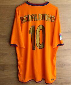 FC BARCELONA 2006/2007 AWAY FOOTBALL SHIRT JERSEY NIKE SIZE XXL #10 RONALDINHO
