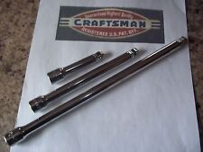 NEW CRAFTSMAN HAND TOOLS 3pc 3/8 ratchet wrench WOBBLE socket extension set
