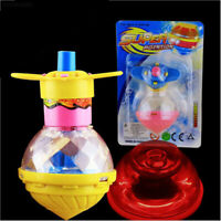 New Funny Flashing Rotating Spinning Top Light Up Dazzling Gyro Peg Top Toys