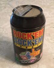 Rock 'Em Sock 'Em Robots Dice Game Mattel Tin Soda Can Style Game FUN