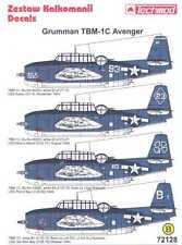 Techmod Decals 1/72 GRUMMAN TBM-1C AVENGER Torpedo Bomber