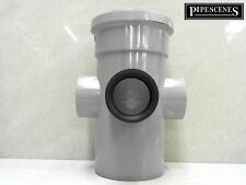 "110mm 4"" Long Boss Pipe 50mm 55mm Rubber Waste Pipe Adaptor GREY"