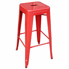 AmeriHome BS030R Loft Red Metal Bar Stool
