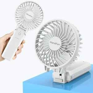 HandFan Mini Ventilateur Portable USB Nettoyable Blanc 5 Vitesses