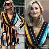 Zara Printed Flowing Dress With Belt SIZE XS S XL