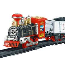 Remote Control Classic Electric Train Set w/ Lights Sounds & Real Smoke - B
